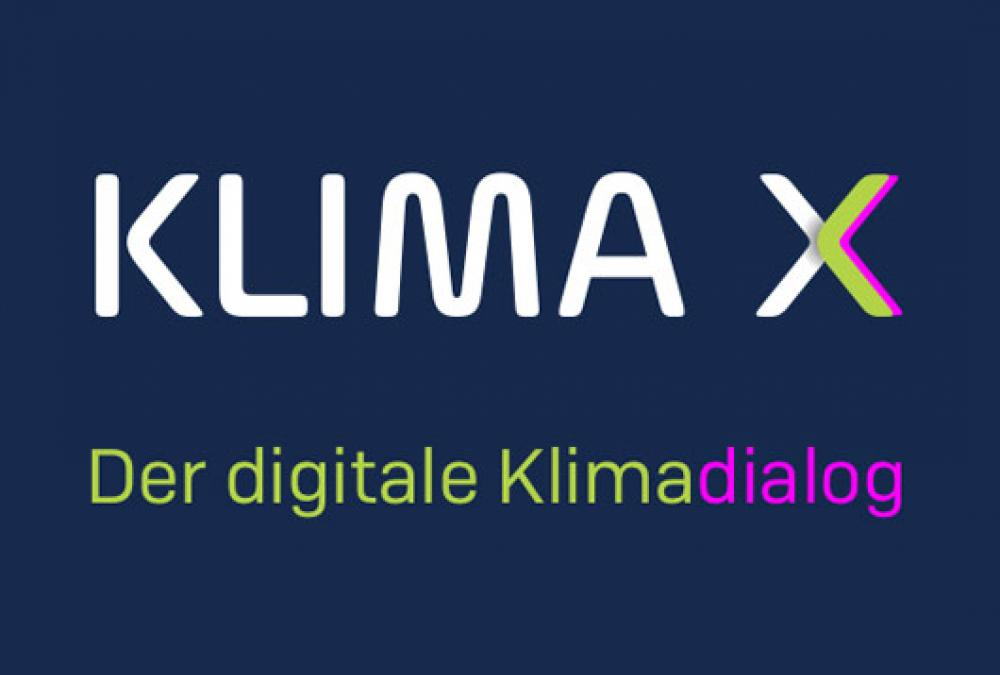 Text: Klima X, der digitale Klimadialog